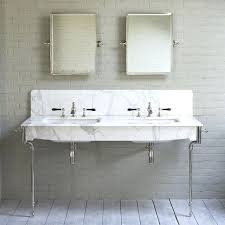 double console sink bathroom sink legs