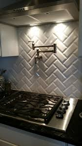 subway tiles tile site largest selection: back splash white beveled subway tiles in chevron pattern with pot filler in meritage