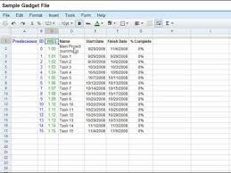 Google Drive Blog Featured Gadget Gantt Charts In Spreadsheets