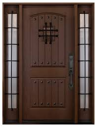 knotty alder look exterior front entry