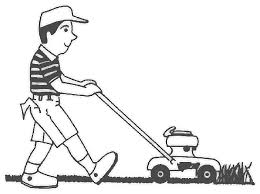 lawn mower clipart black and white. lawn mower guy clipart kid black and white m