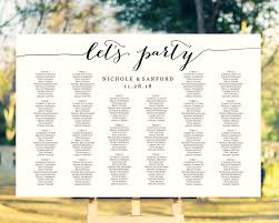 Lets Party Seating Charts Wedding Templates And Printables