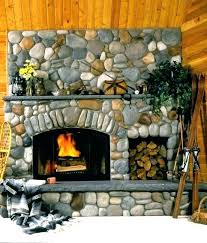 lava rock fireplace mantel remodel before and after painting stone painted
