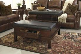 leather ottoman coffee table with storage living roomtable with storage stools leather coffee ottoman genuine leather