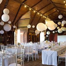 lighting decorations for weddings. white paper lanterns decorations completed this barn wedding venue look lighting for weddings