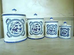 blue kitchen canister sets white ceramic canisters for the breathtaking and china blue and white canisters kitchen