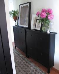shoes cabinets furniture. Furniture. Double Square Black Wooden Shoe Cabinets Having Knob And Short Base On Shoes Furniture
