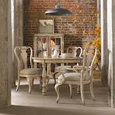 Hooker Furniture Wakefield Rectangular Leg Dining Table With Two - Distressed dining room table and chairs