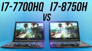 Intel i7-8750H vs i7-7700HQ - Laptop CPU Comparison and Benchmarks - YouTube