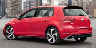 2018 volkswagen e golf release date. perfect date red 2018 vw golf gti rear exterior with city in background on volkswagen e golf release date