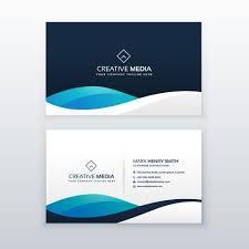 Modern Blue Creative Business Card Design Download Free Vector Art