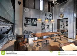 Industrial Loft Bar Style Stock Image Image Of Cafe 100459973