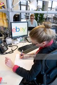 ebay head office. employee of the ebay head office germany in berlin at her workplace on january 29 n