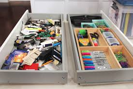 home office desk with drawers. A Cluttered Desk Drawer And An Organized Drawer. Home Office With Drawers