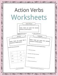 List Of Active Verbs Action Verbs Worksheets Examples Sentences Definition