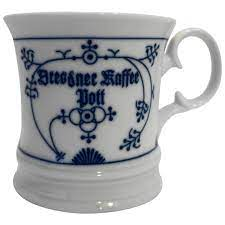 This coffe mug and matching spoon makes the perfect gift! Blue White Porcelain Coffee Mug Germany Germany Hoosier Collectibles Ruby Lane