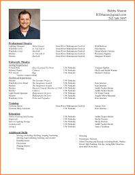 Model Of A Cv Resume Name
