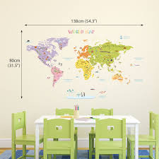 the large world map wall new sticker uk art for