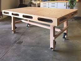 rolling assembly table workbench with