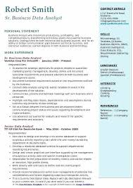 Data Analyst Resume Sample Entry Level Business Analyst Resume