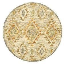 plush indoor round area rug