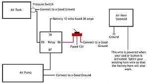 air horn wiring diagram Horn Relay Wiring Schematic train horn installation guide horn relay wiring diagram