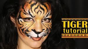 tiger makeup face painting tutorial