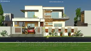 Small Picture 3D Front Elevationcom 1 Kanal House Plan layout 50 X 90 3D