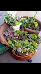 fairy garden container ideas. These Broken Pot Fairy Gardens Are Absolutely Stunning Garden Container Ideas
