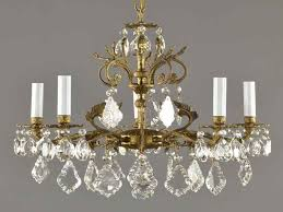 spanish brass crystal chandelier c1950 vintage crystal chandeliers