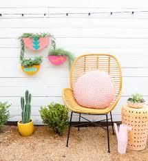 diy colorful outdoor wall planters
