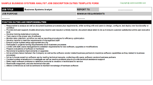 Business Systems Analyst: Free Career Templates Downloads | Job ...