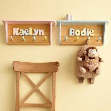 Personalized Kids Coat Rack Name Puzzle Shelf Coat Rack Coat racks and Shelves 3