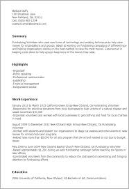 Volunteer Resume Template Magnificent 28 Fundraising Volunteer Resume Templates Try Them Now MyPerfectResume