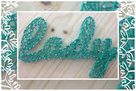 Diy Nail String Art Tutorial  Youtube Throughout Nail And Yarn Wall Art  (Image 6