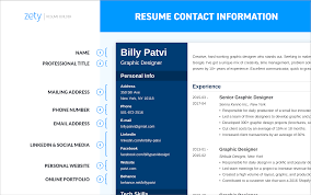 Phone Number On Resume Resume Contact Information What To List What To Skip