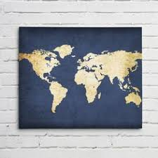 >navy world map wall art canvas world map print in navy blue and  image result for gold and dark blue blue bedroom