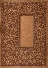 ornate leather book cover background