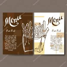 Cafe Menu Template Cafe Menu With Hand Drawn Design Fast Food Restaurant Menu Template 22