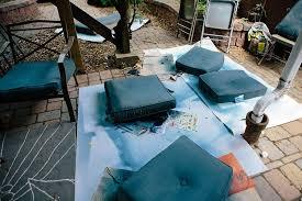 patio makeover fabric spray paint 5 patio makeover with fabric spray