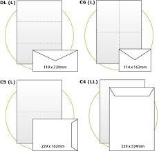 Envelope Size Guide