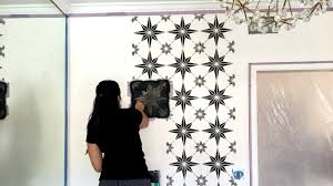 Stencil Art Designs For Walls The Best Way To Decorate Your Walls How To Stencil A Black White Accent Wall