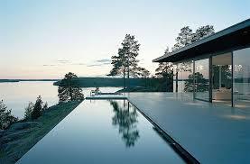 infinity pool house. American Version Of The Girl With Dragon Tattoo | Infinity Pool, Lake Views, Stunning House Stockholm, Sweden John Robert Nilsson Pool