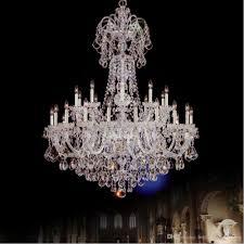 modern banquet hall k9 large crystal chandelier led s lobby chandelier spiral villa living room duplex building stair crystal chandelier flower