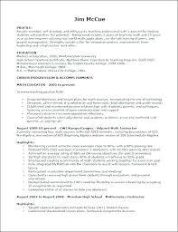Resume Samples For Teaching Job Resume For Teaching Job Sample Of
