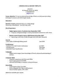Chronological Resume Format Sugarflesh