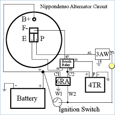 alternator wiring diagram internal regulator kanvamath org 4 Wire Alternator Diagram awesome nippondenso alternator wiring diagram everything