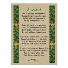 invictus victorian poem celtic knots and crosses poster celtic  invictus victorian poem celtic knots and crosses poster