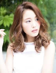 かきあげバング鎖骨ミディパーマhi 185 ヘアカタログ髪型ヘア