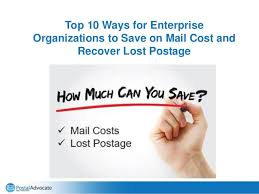 Pitney Bowes Postage Rates 2017 Chart Top 10 Ways For Enterprise Organizations To Save On Mail